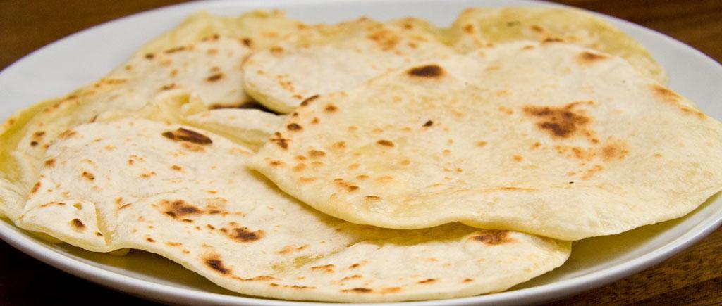 indisk brød på panden