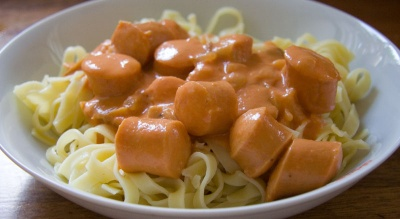 pasta i flødesovs opskrift