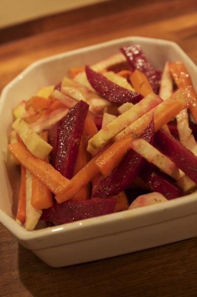 rodfrugter i ovn opskrift